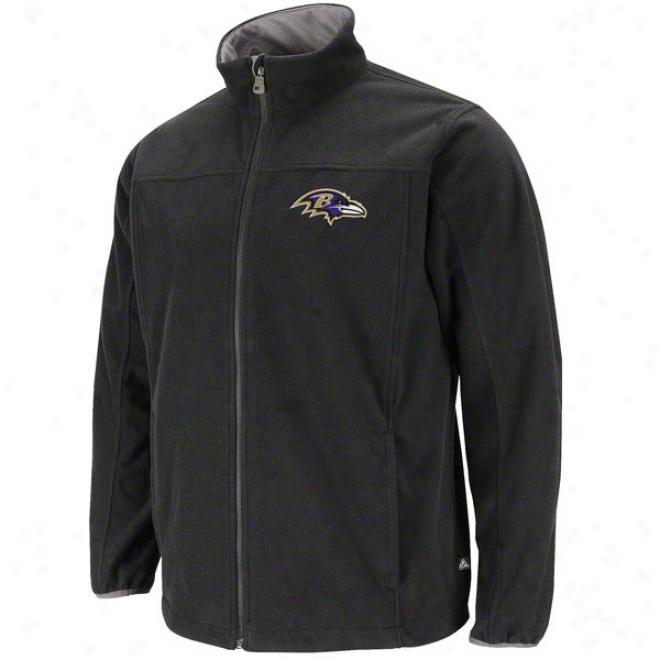 Baltimore Ravens Safety Blitz Iii Black Full-zip Jacket