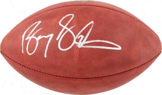 Barry Sanders Autographed Football  Detaails: Duke Football