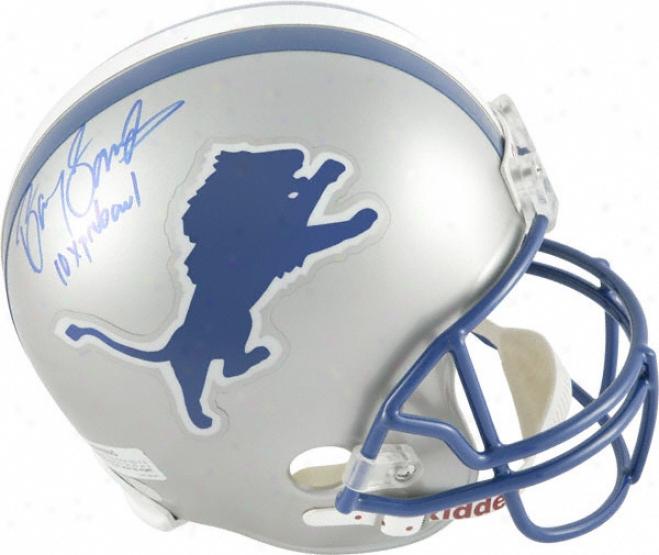 Barry Sanders Autographed Helmet  Details: Detroit Lions, 10x Pro Bowl, Replica Riddell Helmet