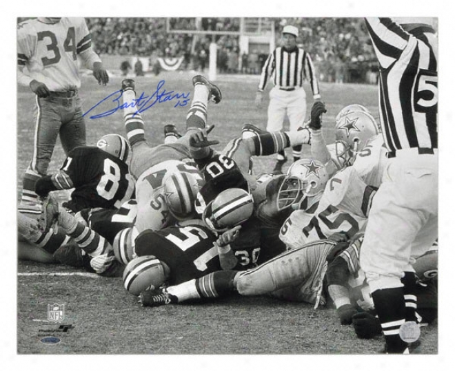 Bart Starr Green Bay Packers - Ice Bowl - Autographed 16x20 Photograph