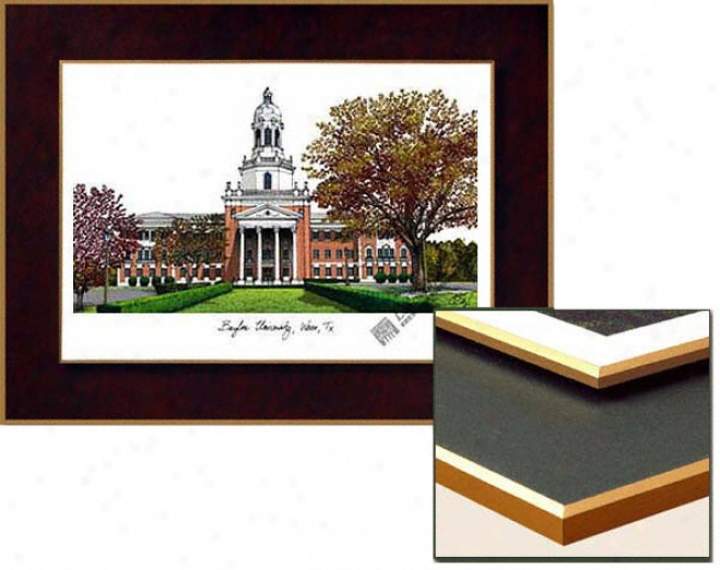 Baylor Bears Collegiate Laminated Lithograph