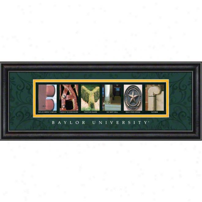 Baylor Bears Letter Art