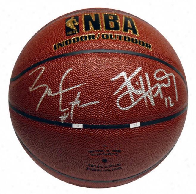 Ben Gordon And Kirk Hinrich Autographed Basketball  Details: Indoor/outdoor Basketball