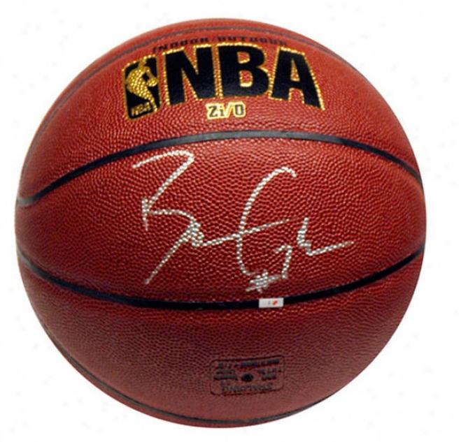 Ben Gordon Detroit Pistons Autographed Indoor/utdoor Basketball