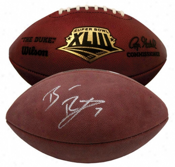 Ben Roethlisberger Autographed Football  Details: Super Bowl Xliii Pro Football