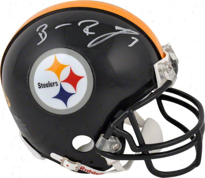 Ben Roethlisberger Autographed Mini Helmet  Details: Pittsburgh Steelers