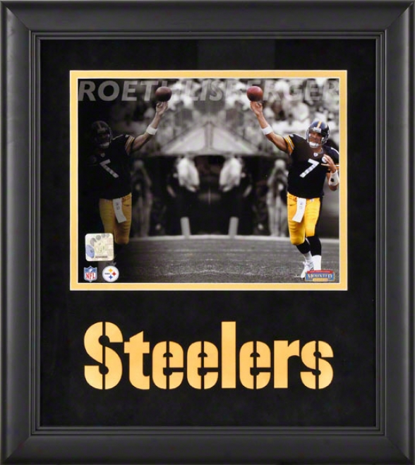 Ben Roethlisberger Framed Photograph  Details: 8x10, Reflections, Pittsburgh Steelers