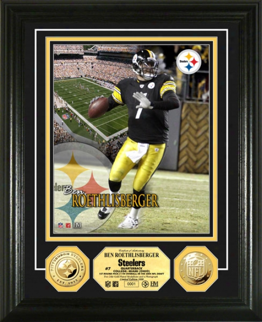 Ben Roethlisberger Pittsburgh Steelers 24kt Gold Coin Photo Mint