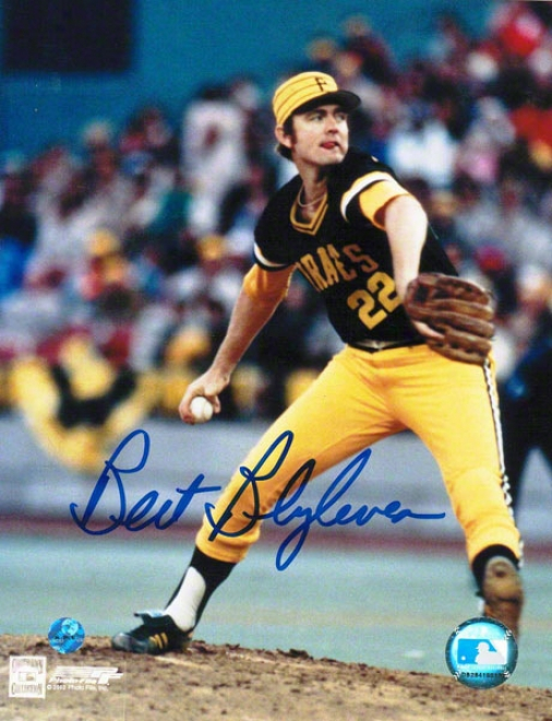 Bert Blyleven Pittsburgh Pirates Autographed 8x10 Photo Pitching