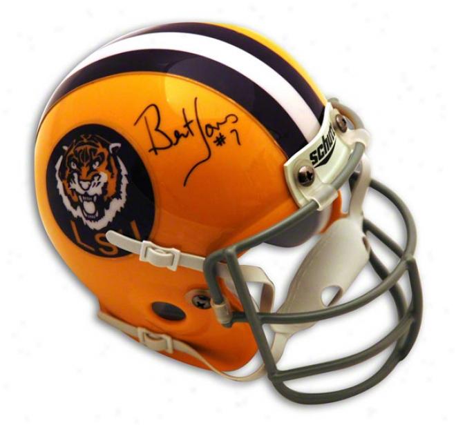 Bert Jones Autographed Lsu Throwback Mini Helmet