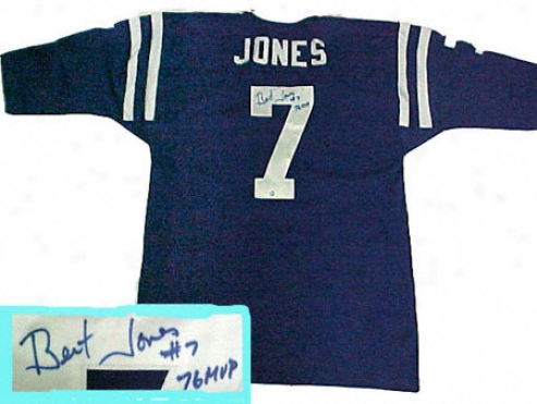 Bert Jones Baltimore Colts Autographed Blue Throwback Jersey