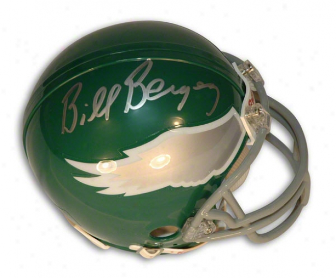 Bill Bergey Autographed Philadelphia Eagles Mini Helmet