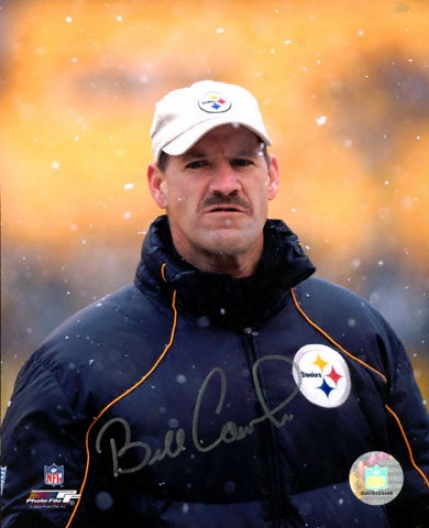 Bill Cowher Pittsburgh Steelers -snow- 8x10 Autographed Photograph