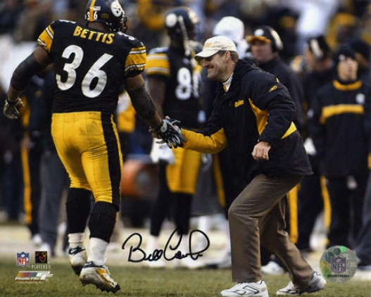 Bill Cowher Pittsburgh Steelers - With Bettis - Autographed 8x10 Photograph