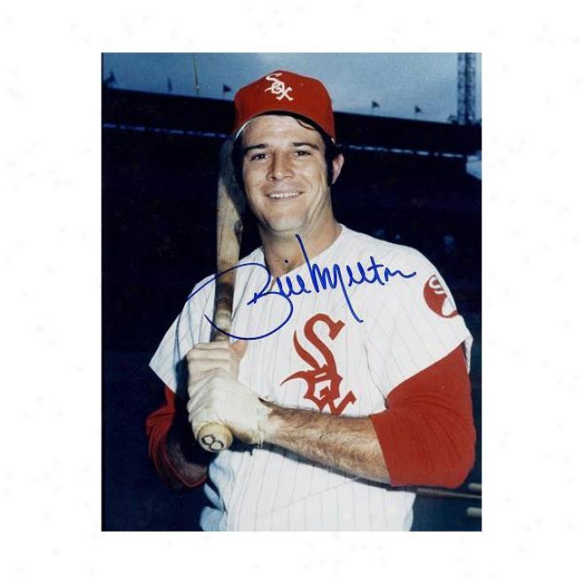 Bill Melton Autographed Chicago White Sx 8x10 Photo