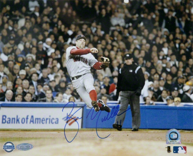 Bill Mueller Boston Red Sox - 2004 Alcs Off Balance Throw - 8x10 Autographed Photograph