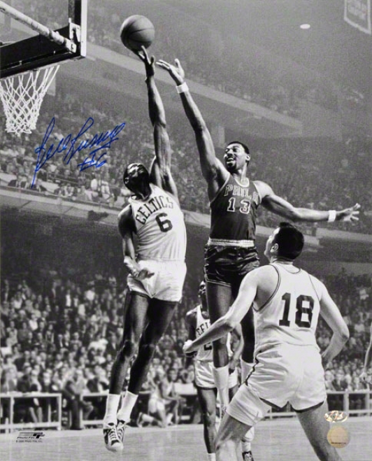 Beak Russell Autographed 16x20 Photograph  Details: Boston Celtics, Back And White, Blocking, Vertical, With &quot#6&quot Inscription