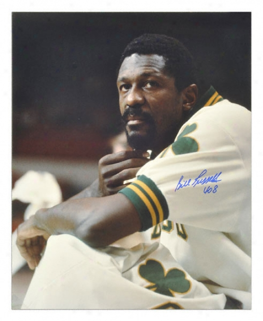Bill Ruswell Boston Celtics - Headshot - 16x20 Autographed Photograph