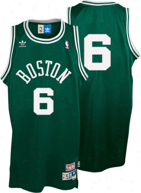 Bill Russell Jersey: Adidas New Throwback Swingman #6 Boston Celtics Jersey