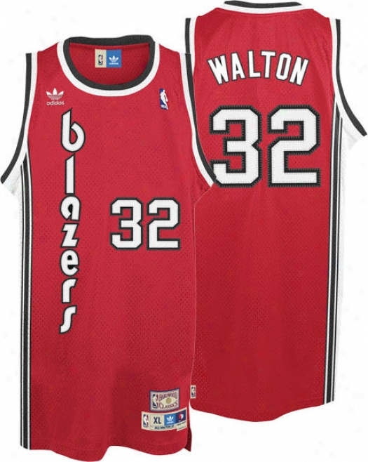 Bill Walton Jersey: Adidas Red Throwback Swingman #32 Portland Trail Blazers Jersey