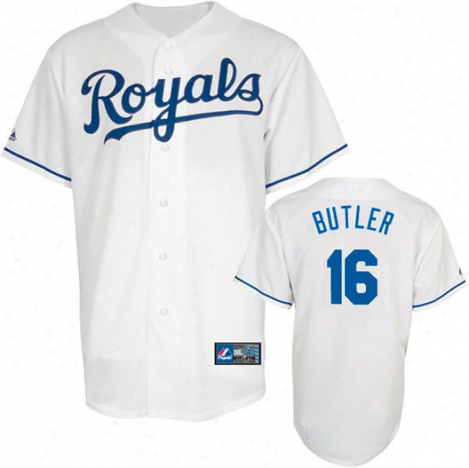 Billy Butler Jersey: Adult Splendid Home White Replica #16 Kansas City Royals Jersey