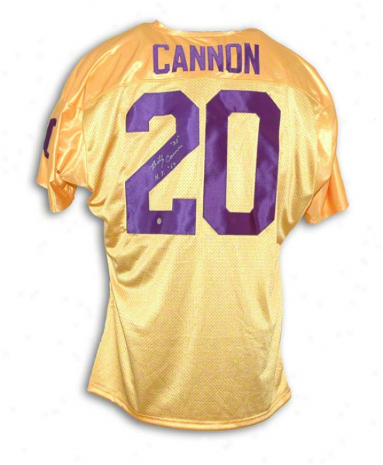 Billy Cannon Lsu Tigers Autographed Jersey Inscribed 20 And Ht 59