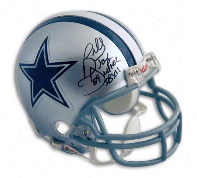 Billy Joe Dupree Autographed Dallas Cowboyys Mini Helmet Inscribed &quotsb Xii Champs&quot
