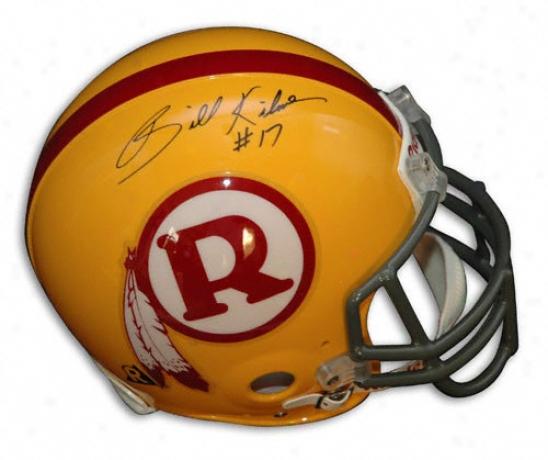 Billy Kilmer Autographed Pro-line Helmet  Details: Washington Redskins, Throwback, Authentic Riddell Helmet
