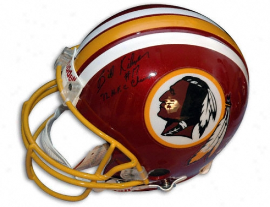 Billy Kilmer Autographed Pro-line Helm  Details: Washington Redskins, With ''72 Nfc Champs'' Inscription, Authentic Riddell Helmet