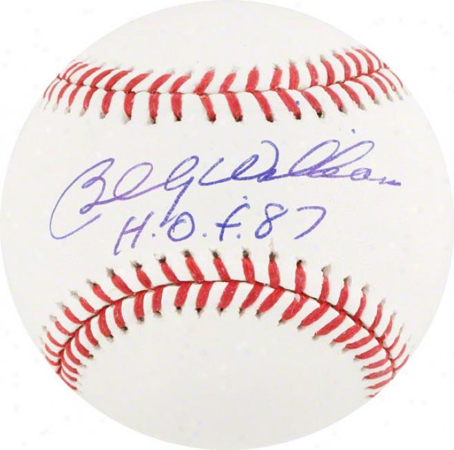 Billy Williams Autographed Baseball  Details: Hof 87 Inscription