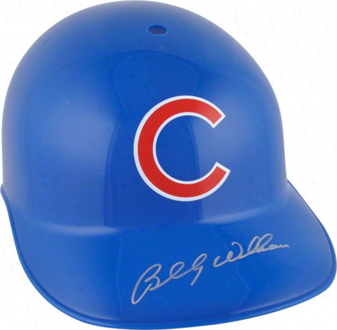 Billy Williams Autographed Batting Helmet  Details: Chicago Cubs