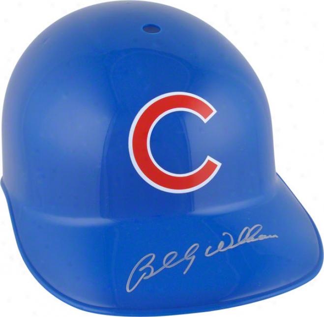 Billy Williams Autographed Batting Helmet  Details: Chicago Cubs
