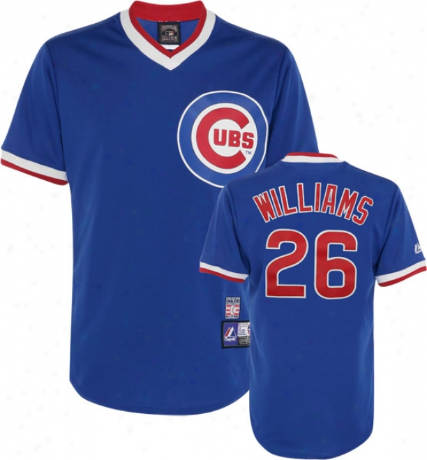 Billy Williams Chicago Cubs Royak Blue Cooperstown Replica Jersey