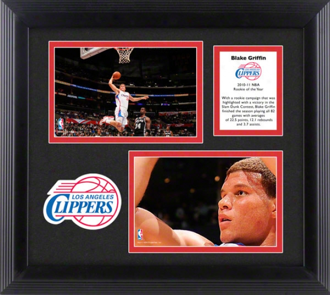 Blake Griffin 2010-2011 Nba Rookie Of The Year Framed Collage  Details: Los Angeles Clippers, 2-photograph