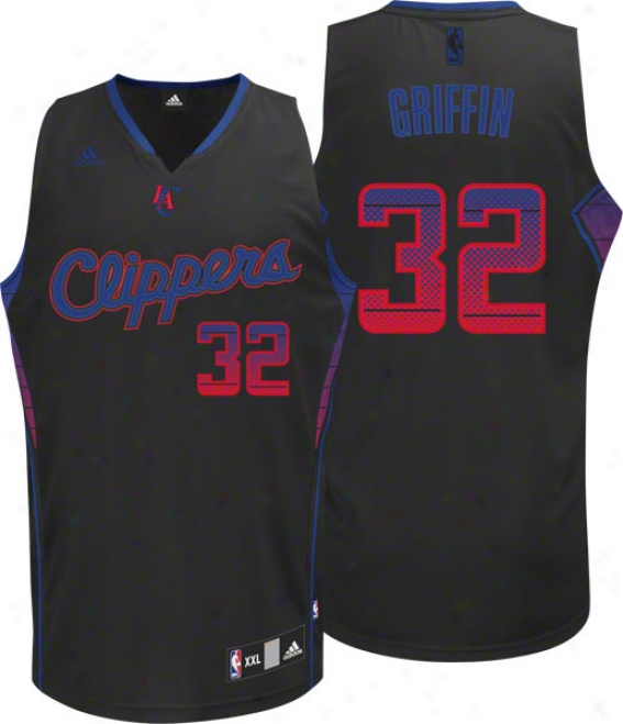 Blake Griffin Jersey: Adidas Vibe Black #1 Los Angeles Clippers Swingman Jersey