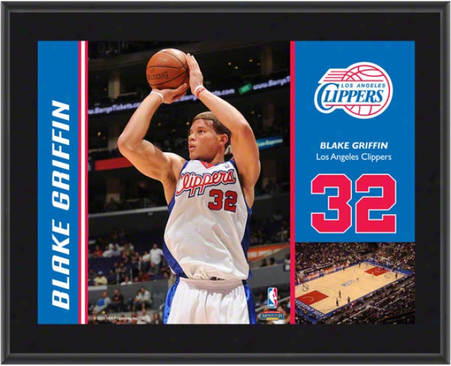 Blake Griffin Plaque  Details: Los Angeles Clippers, Sbulimated, 10x13, Nba Plaque