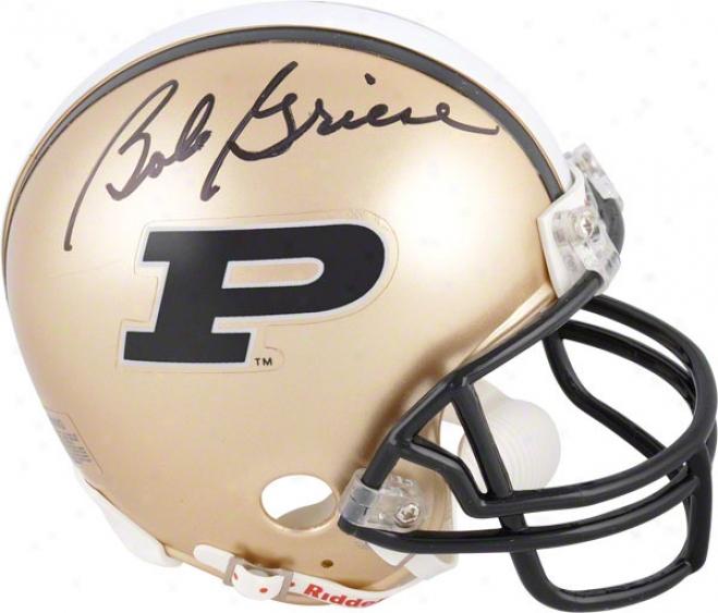 Bob Griese Auutographed Mini Helmet  Details: Pyrdue Boilermakers