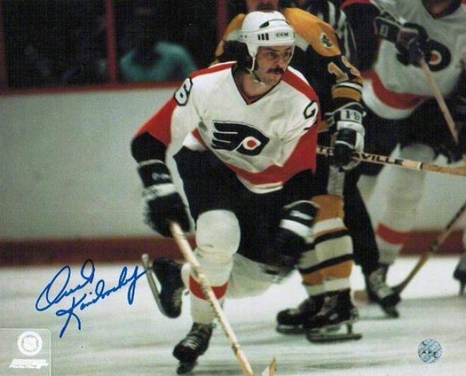 Bob Kelly Autographed Philadelphiia Flyers 8x10 Photo Inscribdd &quothound!&quot