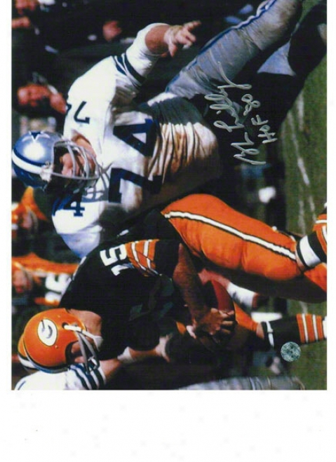 Bob Lilly Dallas Cowboys Autographed 8x10 Photo Ruqhing Bart Starr