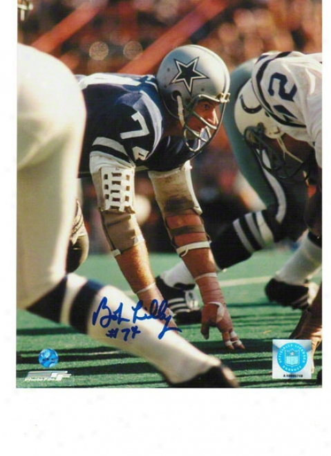 Bob Lilly Dallas Cowboys Autographec 8x10 Photo Vs Colts