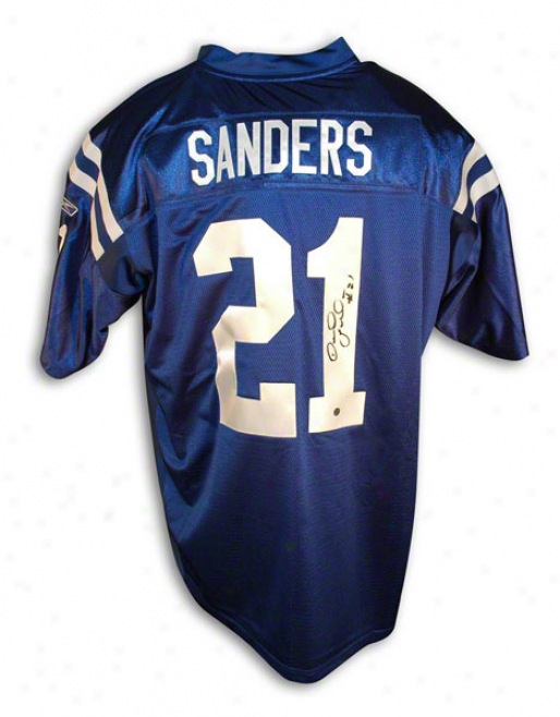 Bob Sanders Autographed Indianapolis Colts Blue Reebok Authentic Jersey