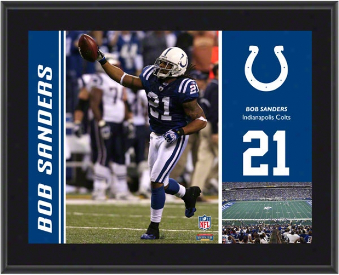 Bob Sanders Plaque  Details: Indiajapolis Colts, Sublimated, 10x13, Nfl Plaque