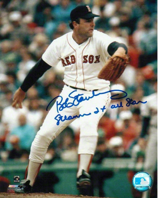 Bob Stanley Autographed Boston Red Sox 8x10 Photo Inscribed &quotsteamer&quot