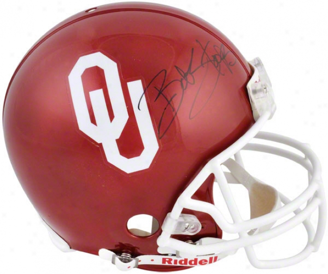 Bob Stoops And Barry Switzer Autographed Pro-line Helmet  Details: Oklahoma Sooners, Authentic Riddell Helmet