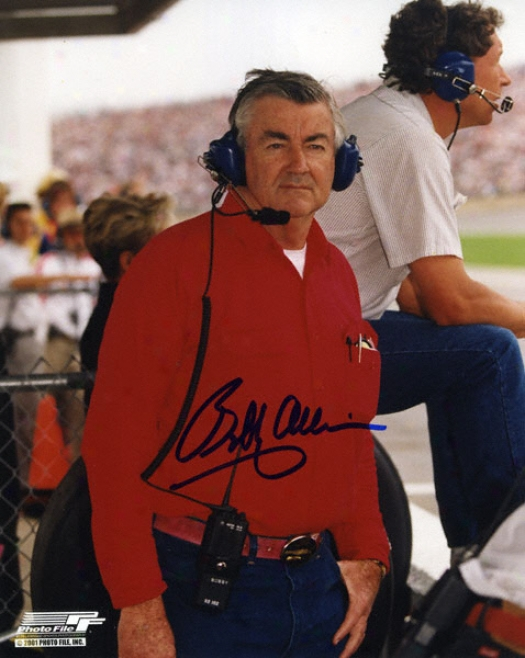 Bobby Allisonn - In The Pits - 8x10 Autographed Photograph