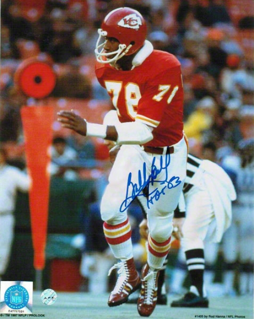 Bobby Bell Autographed Kansas City Chiefs 8x10 Photo Inscribed &quothof 83&quot