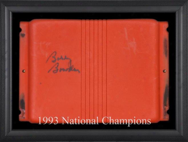 Bobby Bowden Autographed Orange Bowl Stadium Seat With Black Framed Shadowbox