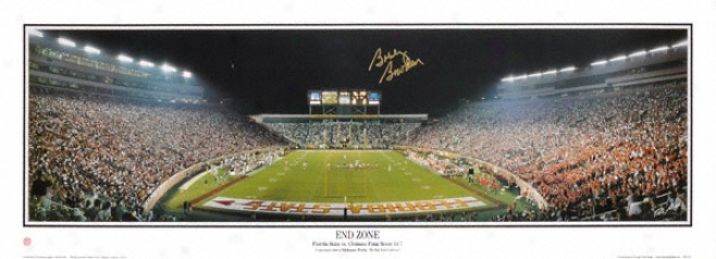 Bobby Bowden Florida State Seminoles Autographed Doak Campbell Stadium Panoramic