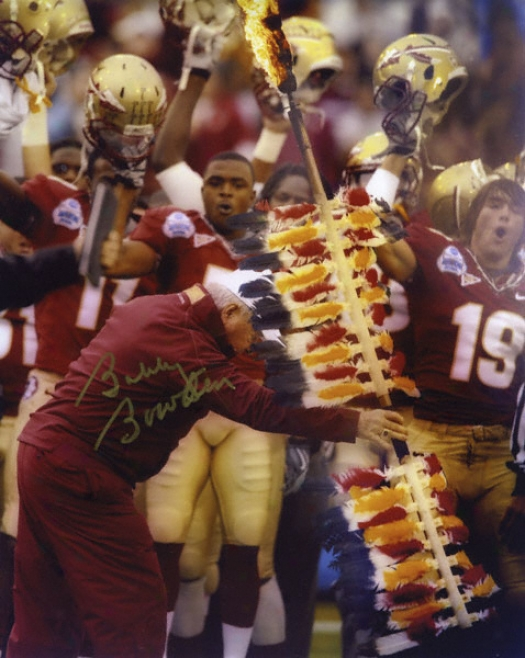 Bobby Bowden Florida State Seminoles - Final Game - Autographed 8x10 Photograph