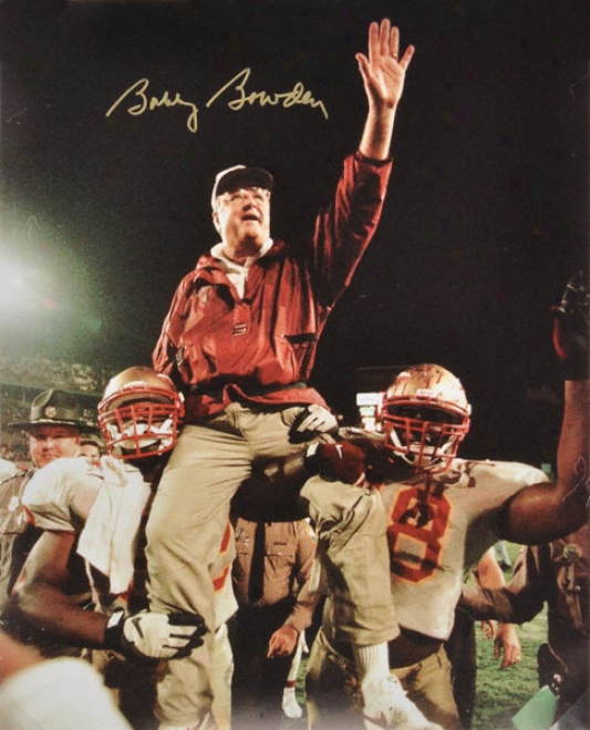 Bobby Bowden Florida State Seminoles - Victory Celebration - Autographed 16x20 Photograph
